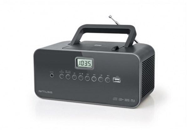 RADIO LECTEUR DE CD ET USB MUSE - Disponible en blanc et en noir